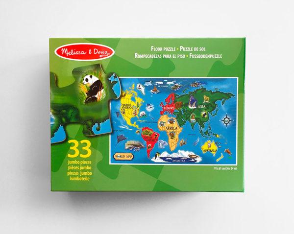 FLOOR PUZZLE: WORLD MAP (33 PIEZAS)