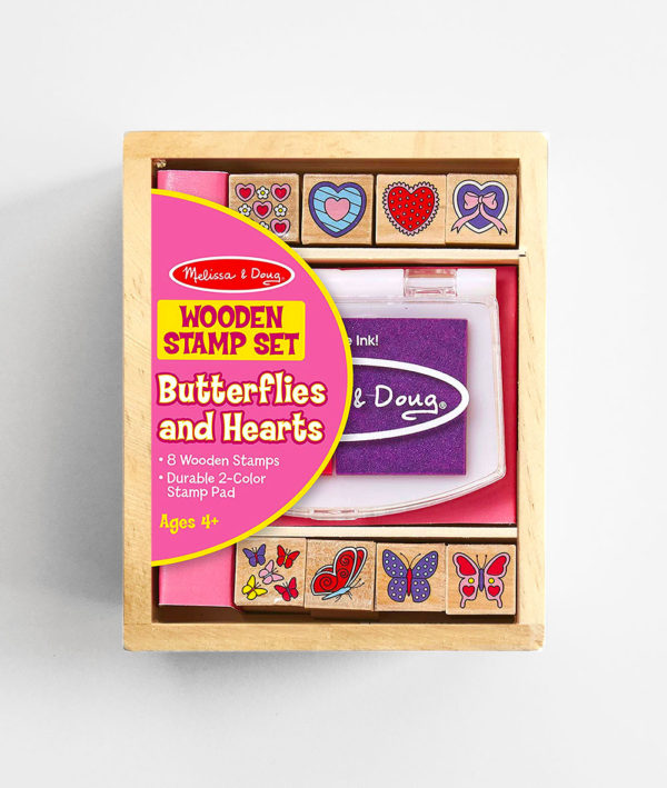 STAMP SET: BUTTERFLIES AND HEARTS