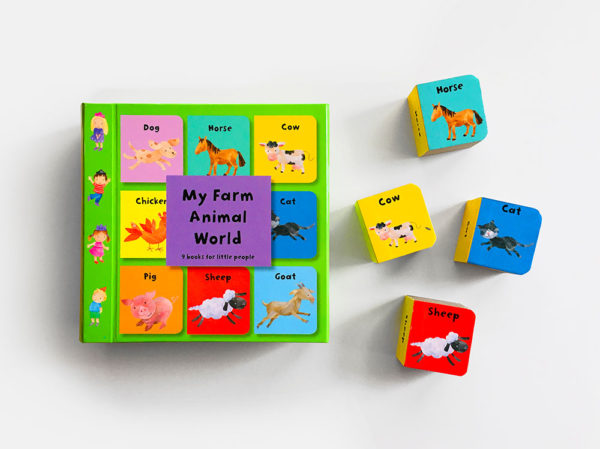 MY FARM ANIMAL WORLD: 9 BOOKS FOR LITTLE PEOPLE